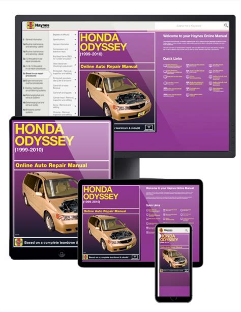 free service manuals online 1996 ford probe electronic valve timing honda odyssey online service manual 1999 2010