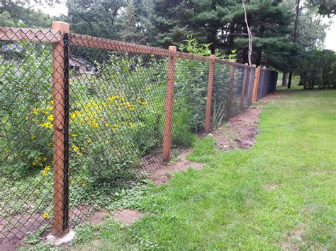 chain link fence post california chain link landscape chain link fencing fences and backyard