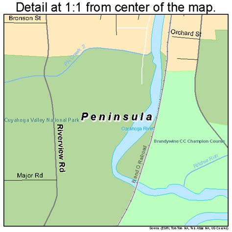 peninsula map peninsula ohio map 3961574
