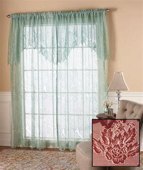 lace curtains with attached valance new lace curtains w attached valance 60 x 84 white ivory