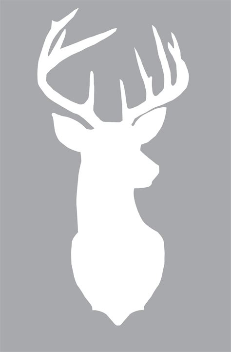 printable stencils deer free large deer silhouette print layer different colors