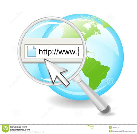 Search For On The Net Search The Web On Globe Stock Vector Image 16166970