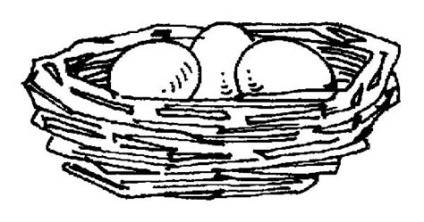 Coloring Page Nest by Bird Eggs In Bird Nest Coloring Pages Best Place To Color
