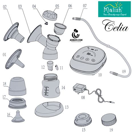 Breast Pompa Asi Malish Ilaria malish celia rechargeable single electric breast