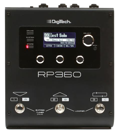Multi Fx digitech rp360 multi fx pedal with usb gearnuts