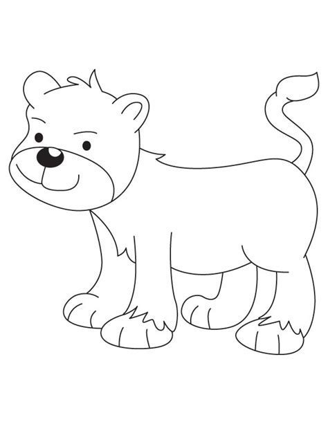 coloring page lion cub lion cub coloring page download free lion cub coloring