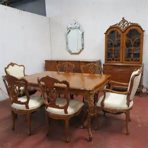 antique dining room furniture 1930 sold vintage antique style ornate 9 walnut