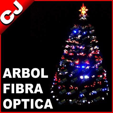 arbol verde 210 fibra optica y luces led integradas