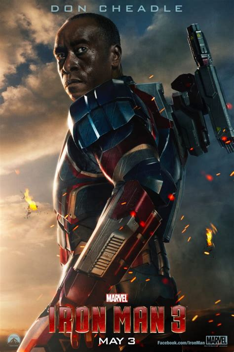 Ironman Patriot Marvel iron 3 poster featuring don cheadle as iron patriot collider