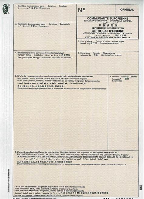 certificat d origine chambre de commerce le certificat d origine communautaire bretagne commerce