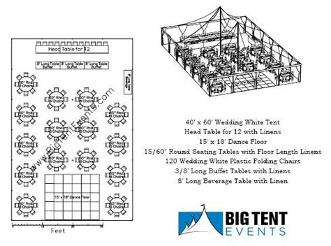 wedding layout tent wedding tent rental 120 guest seating layout chicago il