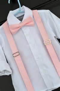 boy bowtie and suspenders solid light pink bowtie