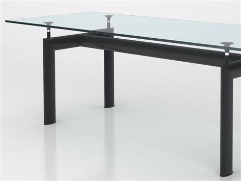 le corbusier tisch table le corbusier en m 233 tal et verre