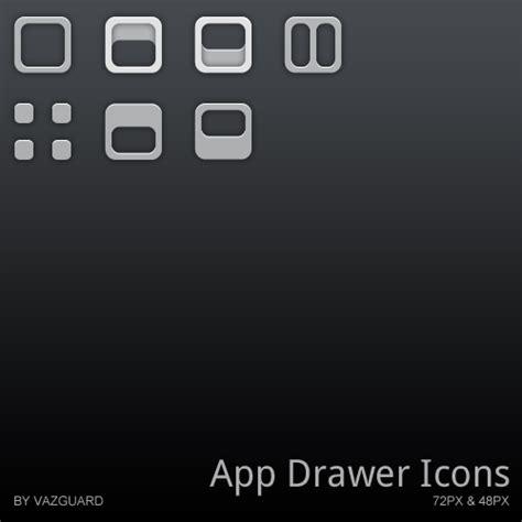Android App Drawer Icon by App Drawer Icon Collection 1 By Vazguard On Deviantart