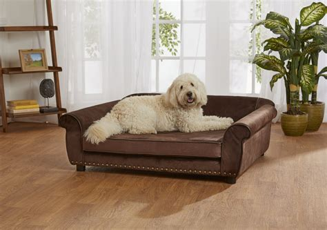 ultra plush outlaw sofa enchanted home pet brown ultra plush outlaw pet sofa petco