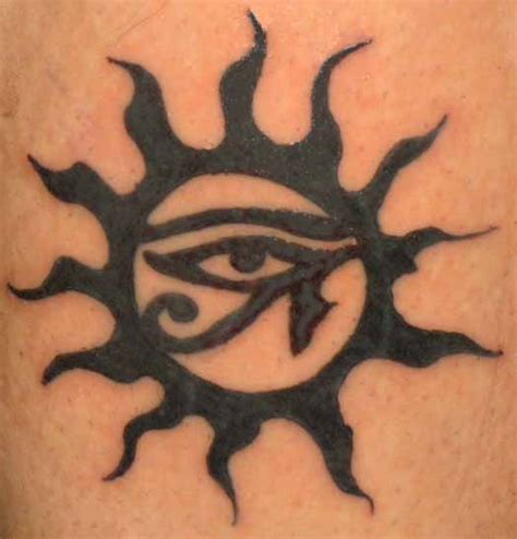 tribal egyptian tattoos 55 tribal sun tattoos collection