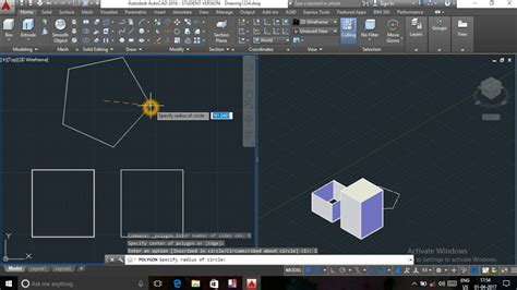 tutorial autocad viewports autocad 3d tutorial 1 how to use extrude viewport