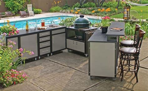 prefab outdoor kitchen cabinets prefab outdoor kitchen kits in various designs