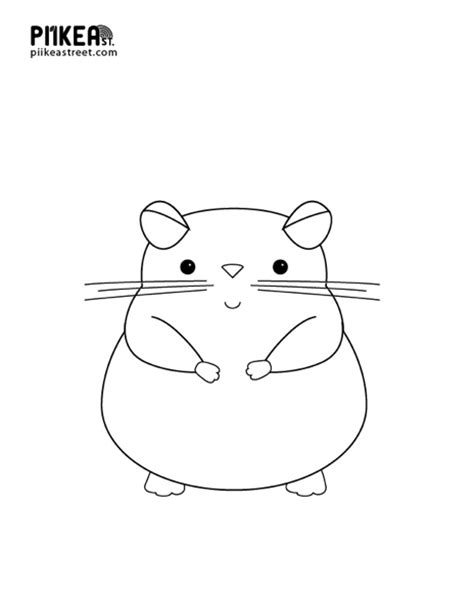 coloring page hamster free coloring pages of a hamster