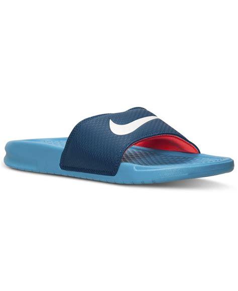 nike benassi swoosh slide sandals nike s benassi swoosh slide sandals from finish line