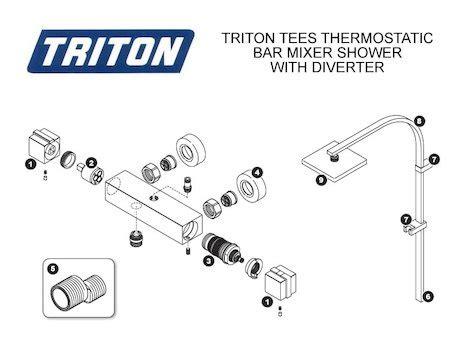 Triton Sema Shower by 100 Buy Triton Sema Bar Mixer Thermostatic