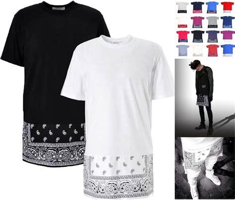 Longline Desist oversized paisley print bandana t shirt