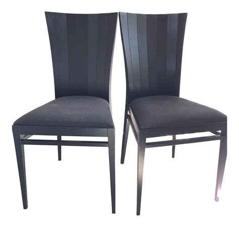 occasional dining chairs roche bobois black wood occasional dinning chairs pair