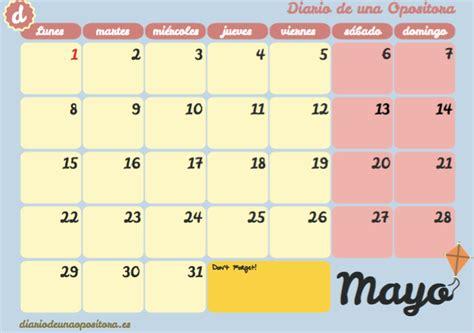 Calendario Diario Abril 2017 Opositando A Judicatura