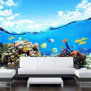 ocean wall mural wall sticker mural ocean sea underwater from pulaton on etsy
