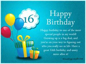 16th birthday cards 16th birthday wishes messages and greetings wordings