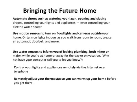 presentation smart home with home automation