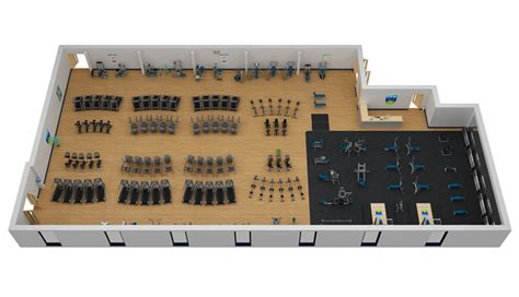 gym layout exles commercial fitness facility design installation showcase