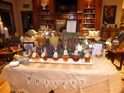 whiskey themed events 10 inspirational food bar ideas