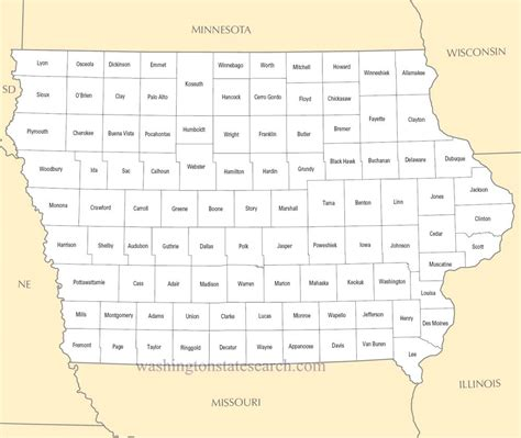 County Search Map Iowa Counties Afputra