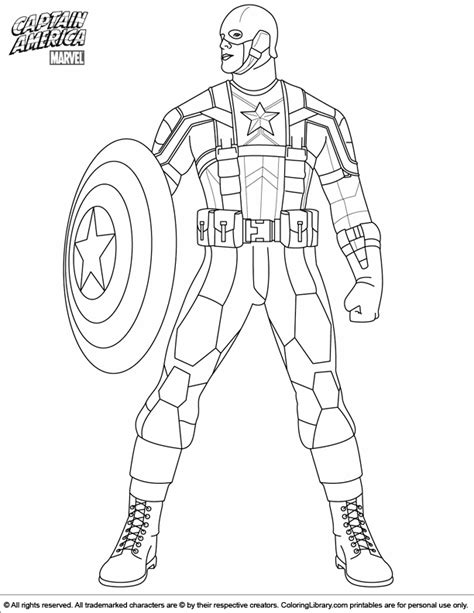 Coloring Page Captain America by Free Coloring Pages Of Captain Amerika