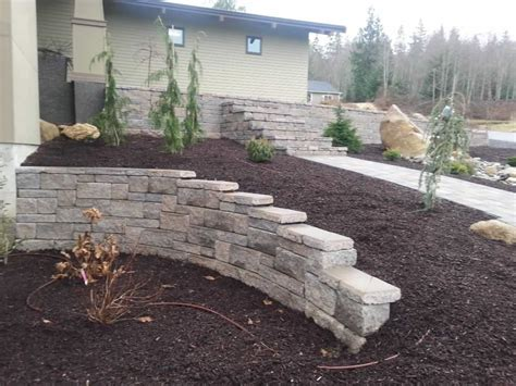 Landscape Design And Management Corion Bellingham Retaining Garden Wall