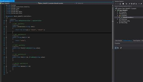 visual studio project template visual studio project template for asp net web api