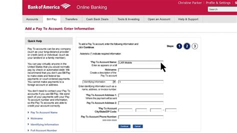 can i make my car payment with a credit card bank of america how to set up bill pay