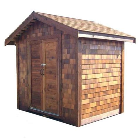 diy shed kit home depot greenstone 6 ft x 6 ft cedar shed precut kit
