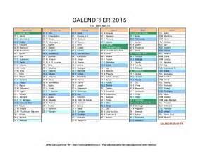 Calendrier F 2015 Calendrier 2015 Avec Jours F Ri S