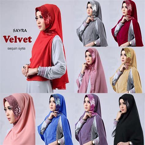 Model Kerudung Instan 2016 jilbab instan velvet sequin terbaru 2017 bundaku net