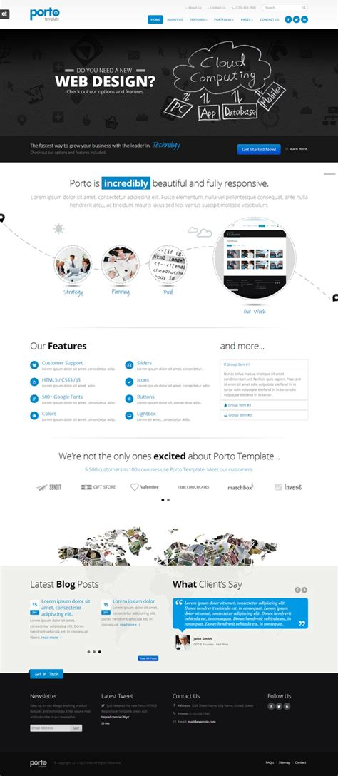 themeforest porto 1000 images about html html5 css templates on pinterest