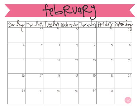 search results for february 2014 calendar printable