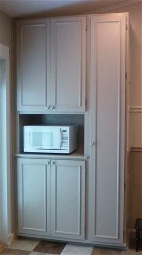 pantry cabinet with microwave shelf microwave solution