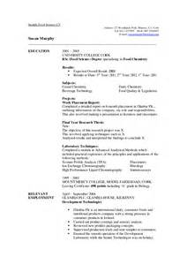 Curriculum Mapping Exles Templates by What Resume Can You Get With A Food Science Degree Sales