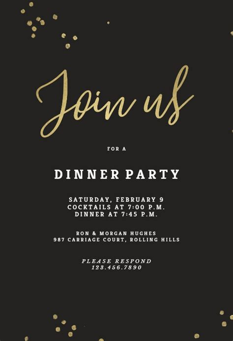 thank you cards for dinner template cool free dinner invitation templates ideas