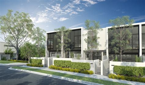 Contemporary Townhouse elevation townhouses conrad architects