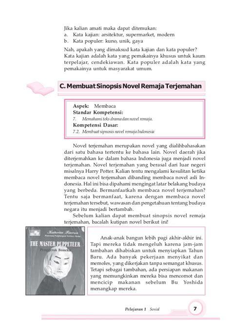 membuat sinopsis novel terjemahan bahasa indonesia smp 8