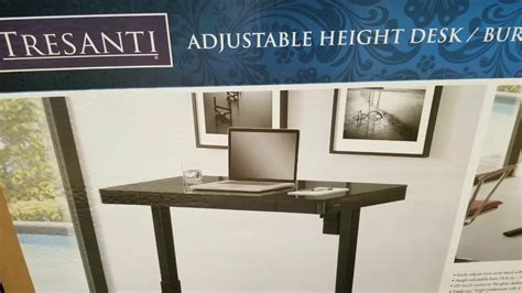 tresanti adjustable height desk costco tresanti adjustable height desk black glass 299