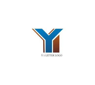 Y Logo y 1 letter logo design vector logos free